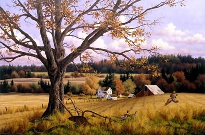 Crisp Fall Day by Randy Van Beek art print