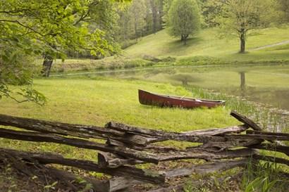 Canoe & Fence by Monte Nagler art print