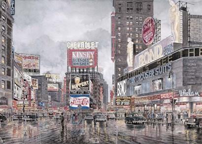 Times Square, New York by Stanton Manolakas art print