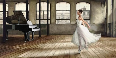 Dim Light Ballerina by Pierre Benson art print