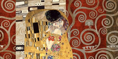 The Kiss (Pewter) by Gustav Klimt art print
