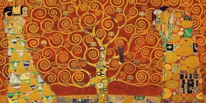 Tree of Life (Red Variation) by Gustav Klimt art print