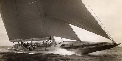 J Class Sailboat, 1934 by Edwin Levick art print