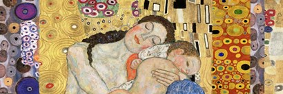Deco Panel (Death and Life) by Gustav Klimt art print