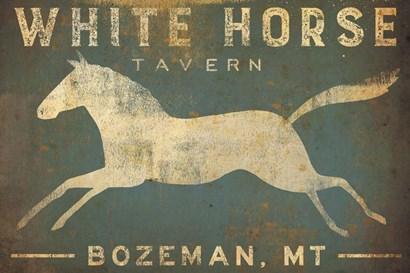 White Horse Running by Ryan Fowler art print