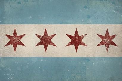 Chicago Flag by Ryan Fowler art print
