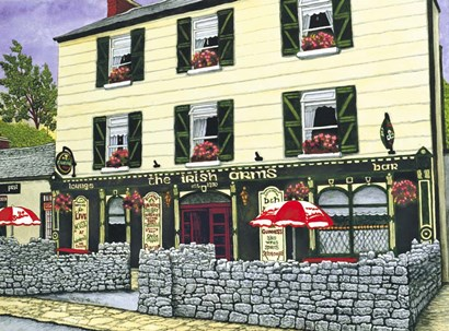 Ireland - Irish Arms Pub by Thelma Winter art print