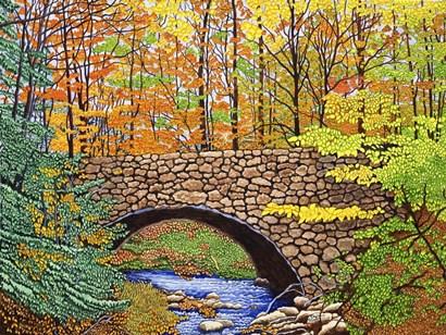 Stone Bridge, Allegany State Park, Ny by Thelma Winter art print
