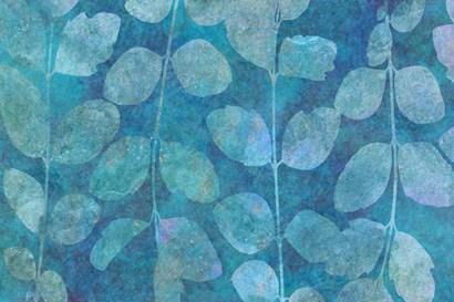 Leaf Pattern Blue by Cora Niele art print