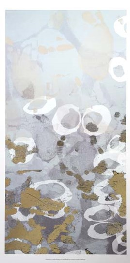 Golden Dropplets I - Metallic Foil by Jennifer Goldberger art print