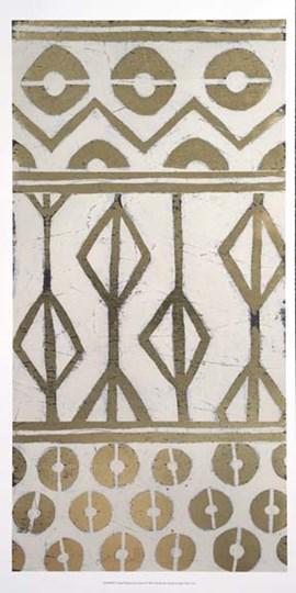 Tribal Pattern in Cream I - Metallic Foil by June Erica Vess art print