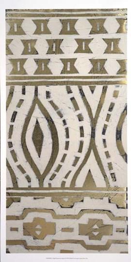 Tribal Pattern in Cream II - Metallic Foil by June Erica Vess art print