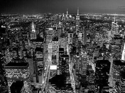 Midtown Manhattan at Night 2 by Richard Berenholtz art print