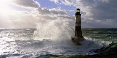 Phare d' Ar-Men pres de l'ile de Sein by Jean Guichard art print