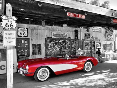 Red Corvette by Vadim Ratsenskiy art print
