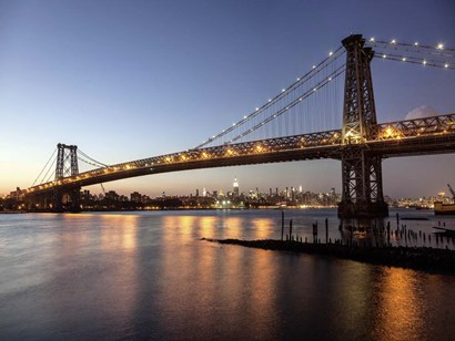 Queensboro Bridge and Manhattan from Brooklyn, NYC by Michael Setboun art print