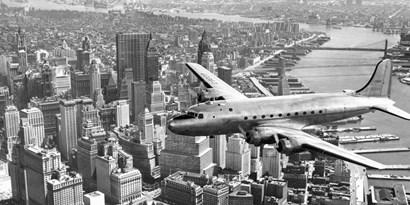 Flying over Manhattan, NYC art print