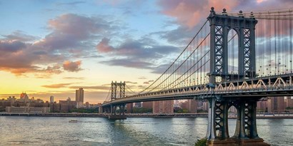 Manhattan Bridge at Sunset, NYC art print