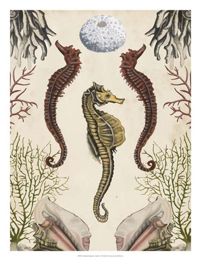 Antiquarian Menagerie - Seahorse by Naomi McCavitt art print