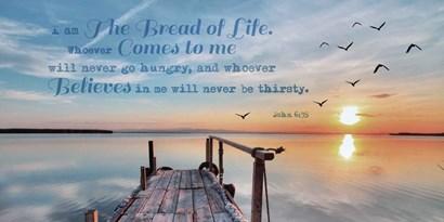 John 6:35 I am the Bread of Life (Pier) by Inspire Me art print