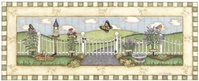Butterfly Fence by Robin Betterley art print