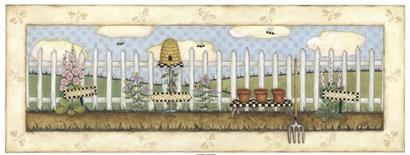 Beehive Fence by Robin Betterley art print