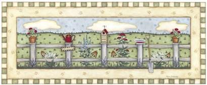 Fenceline Flowers by Robin Betterley art print