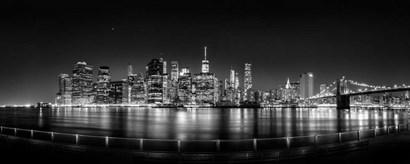 Illuminated  Manhattan Skyline, New York City by Panoramic Images art print