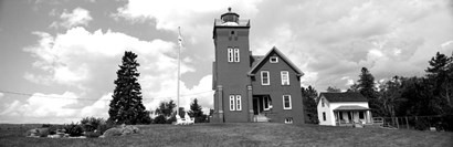 Two Harbors Lighthouse on Lake Superior's Agate Bay, Burlington Bay, Minnesota by Panoramic Images art print