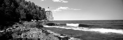 Lighthouse on a cliff, Split Rock Lighthouse, Lake Superior, Minnesota by Panoramic Images art print
