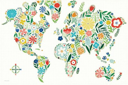 Floral World White by Michael Mullan art print