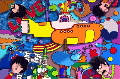 Beatles Yellow Sub by Howie Green art print