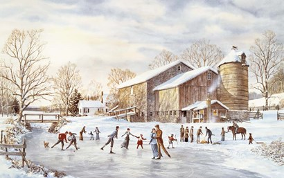 The Skating Party by Jack Wemp art print