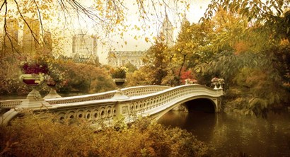 Autumn at Bow Bridge by Jessica Jenney art print