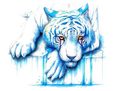 Blue Tears by JoJoesArt art print