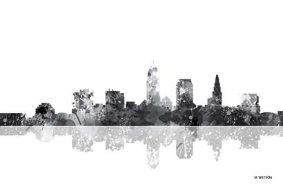 Cleveland Ohio Skyline BG 1 by Marlene Watson art print
