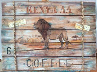 Kenya AA Coffee by P.S. Art Studios art print