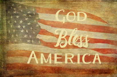 God Bless America by Ramona Murdock art print