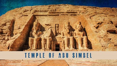 Vintage Temple of Abu Simbel, Nubia, Egypt, Africa by Take Me Away art print