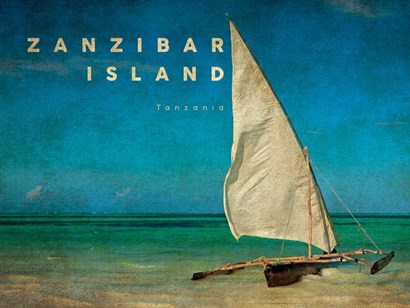 Vintage Zanzibar Island, Tanzania, Africa by Take Me Away art print