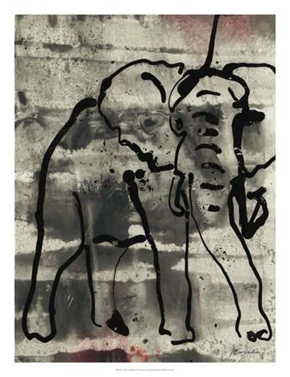 Abstract Elephant I by Joyce Combs art print