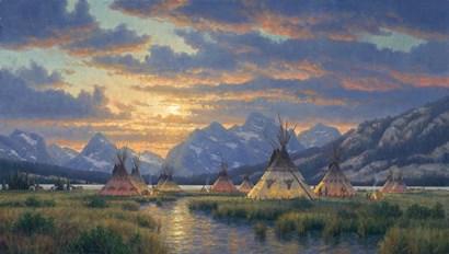 Blackfeet Of The Rockies by Randy Van Beek art print