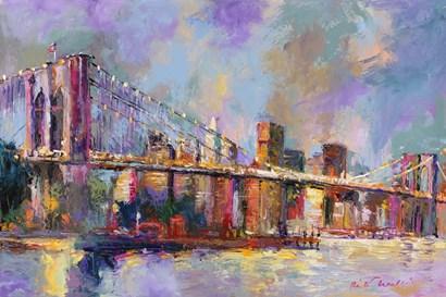 Brooklyn Bridge by Richard Wallich art print
