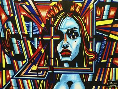 Face The Faith by Abstract Graffiti art print