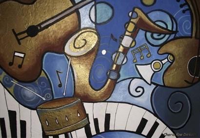 Musical Mural by Cherie Roe Dirksen art print