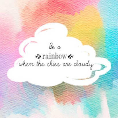 Try to be a Rainbow II by Quote Master art print