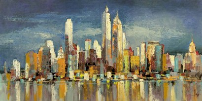 New York, riflessi del mattino by Luigi Florio art print