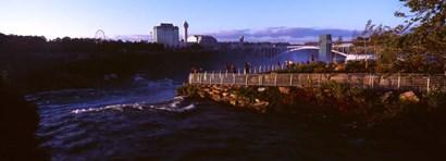 Tourists at a Waterfall, Niagara Falls, Niagara River by Panoramic Images art print