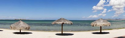 Sun Shade on the Beach of La Paz, Baja California Sur, Mexico by Panoramic Images art print