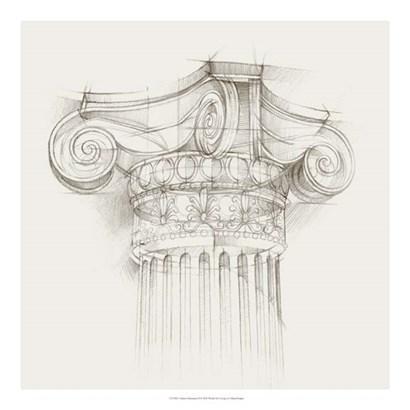 Column Schematic II by Ethan Harper art print